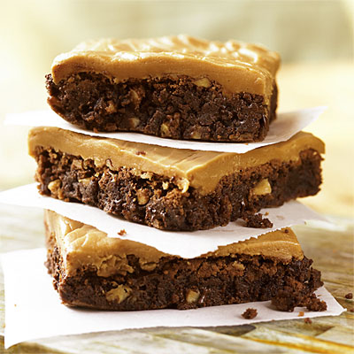Double Chocolate Brownies With Caramel Frosting (Southern Living)