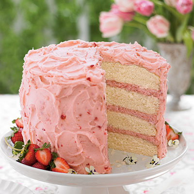 Strawberry Mousse Cake (Southern Living)