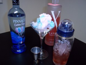Cotton Candy Martini – Cotton Candy Cosmo Recipe (The Cocktail Envy)