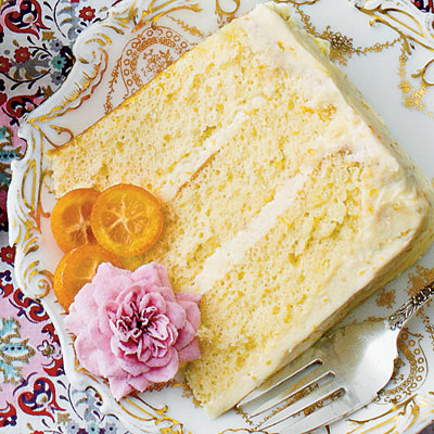 Lemon-Orange Chiffon Cake  (Photo Credit: Jennifer Davick; Styling: Lydia Degaris Pursell)